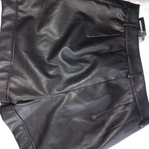 Express Shorts - Express faux leather shorts